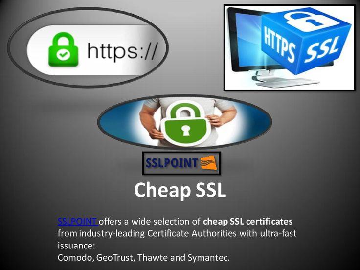To get best information about Cheap SSL @ https://www.sslpoint.com/