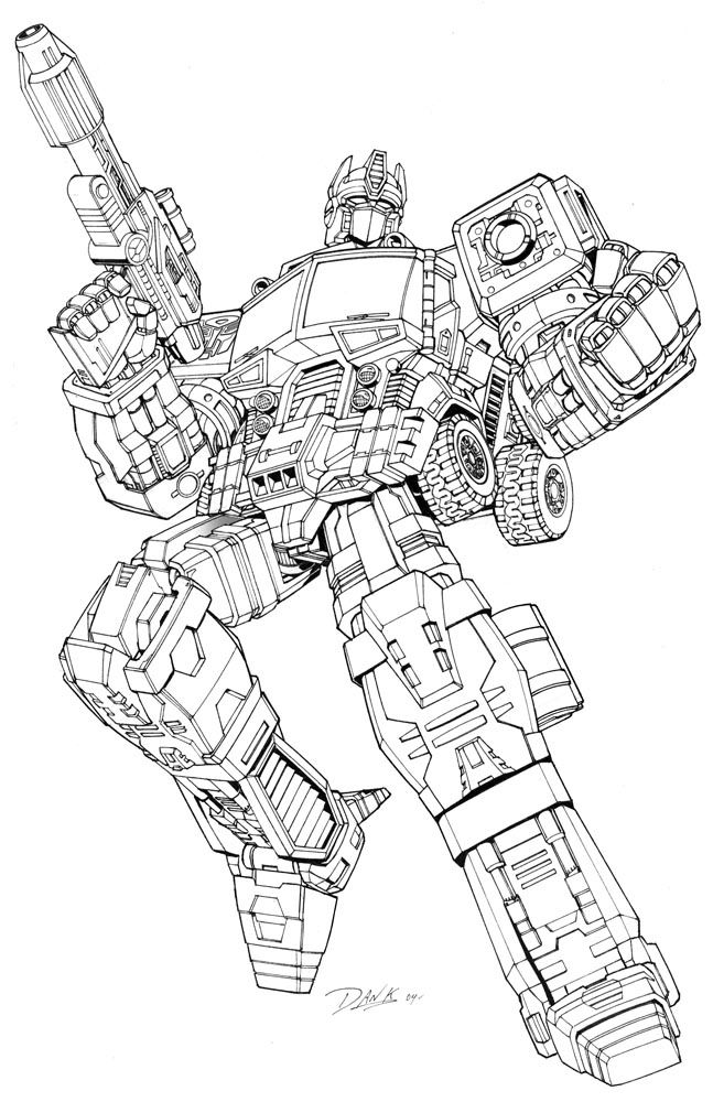 Nice Transformer Coloring Pages For Kids1