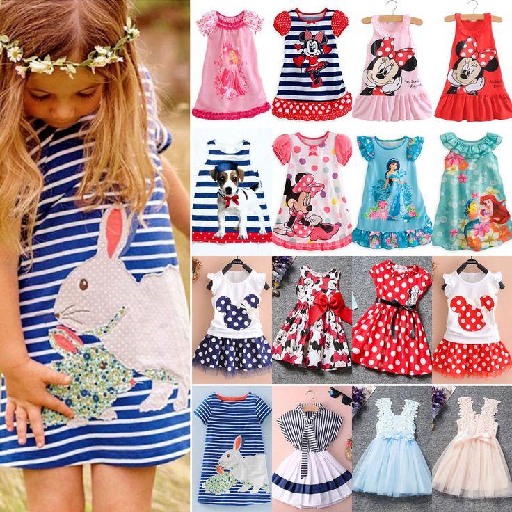 Mädchen Kinder Kleid Faltenkleid Rock Kommunionkleid Abendkleid Party Sommer Neu
