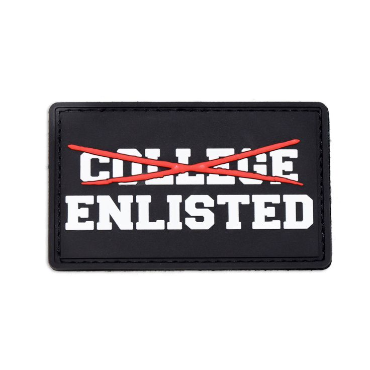 The College Enlisted Morale Patch. Morale Patch Armory Specs Material: PVC Size…