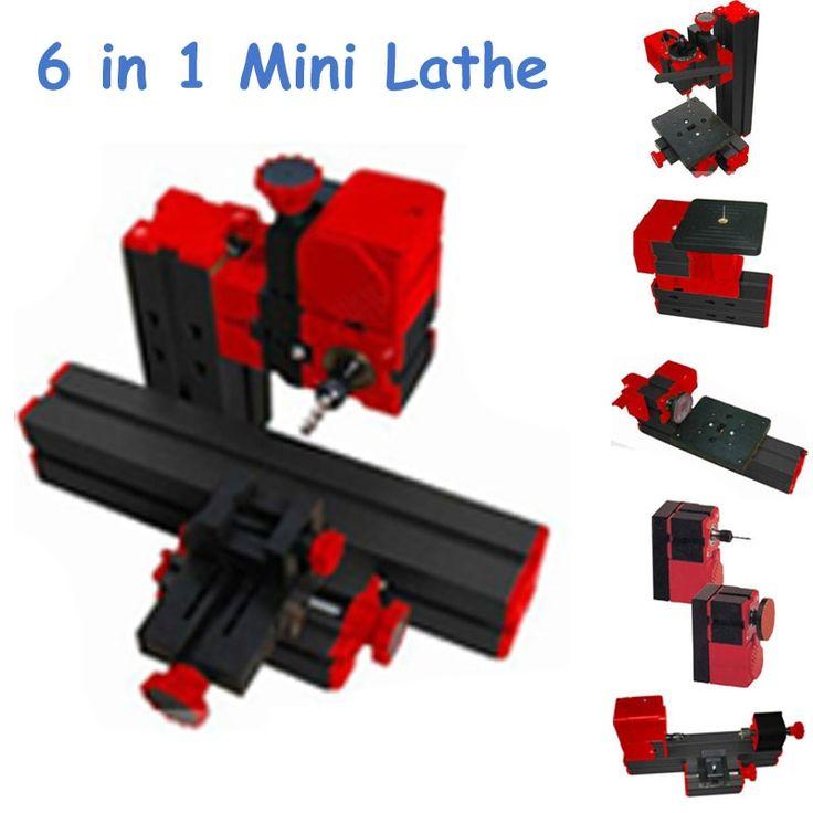 (198.07$)  Watch here  - DIY 2 Sets Mini Lathe Machine 6 in 1 DIY Mini Micro Lathe Machine Tool 6 in 1, For Wood and Soft Metal