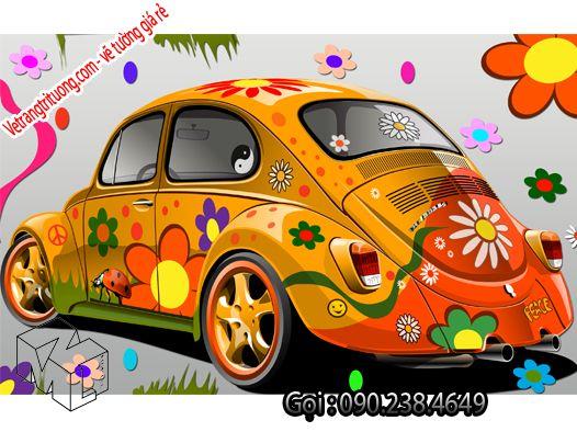 Vẽ tường quán cafe với chiếc xe đầy màu sắc - http://vetrangtrituong.com/xem-san-pham/ve-tuong-quan-cafe-voi-chiec-xe-day-mau-sac - gọi 090.238.4649 để vẽ tường