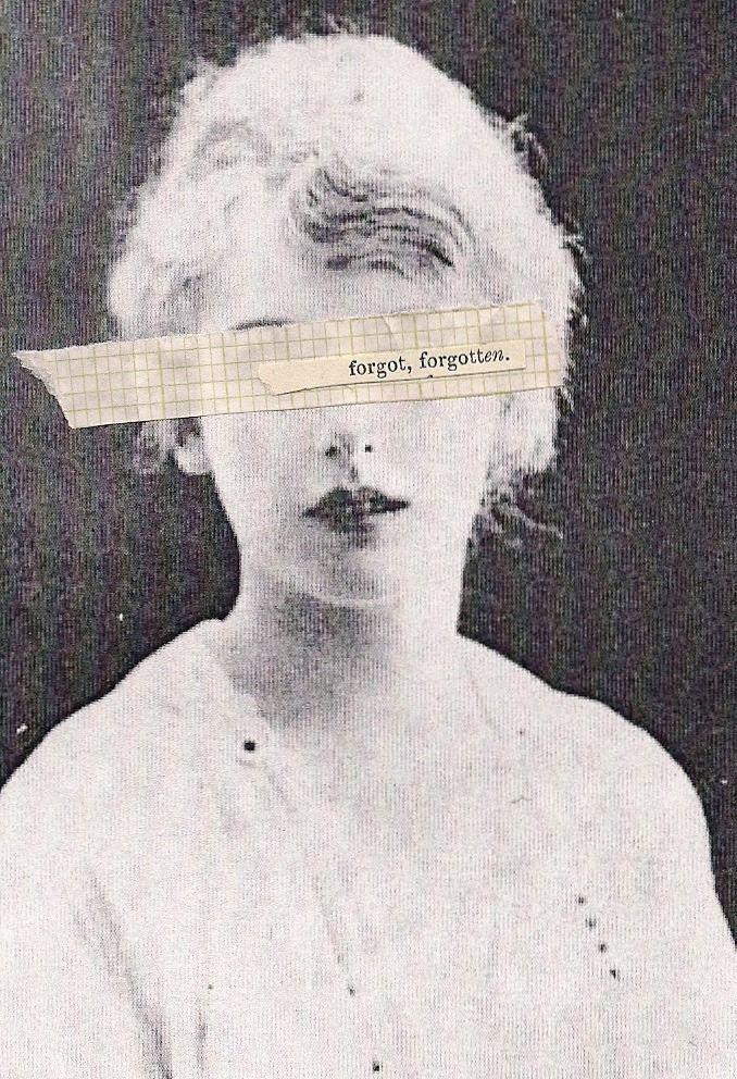 Collage de daisy bennett Foto/poesía de Jorge.