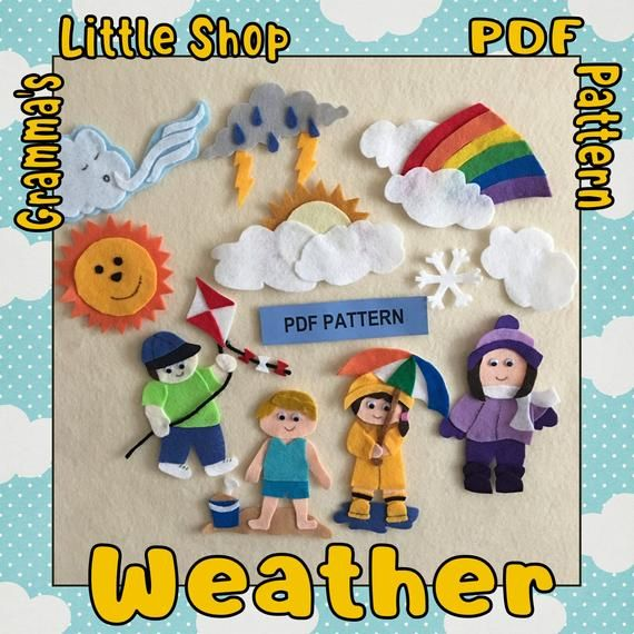 Weather Felt Board Patterns To Make To Teach Weather And The Seasons Pdf Patterns Only Kece Okul Oncesi Egitim