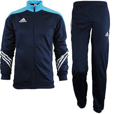 Track Suits 59339: Adidas Sereno 14 Mens Track Suit Blue/White Jogging Sports Training New -> BUY IT NOW ONLY: $78.89 on eBay!