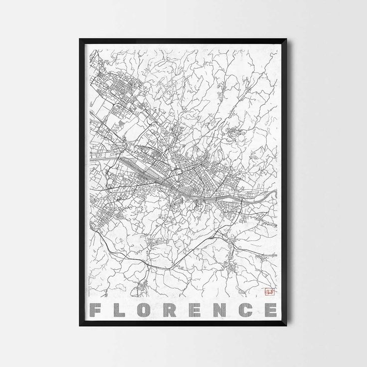 Florence art prints -Art posters and prints of your favorite city. Unique design of a map. Perfect for your house and office or as a gift.