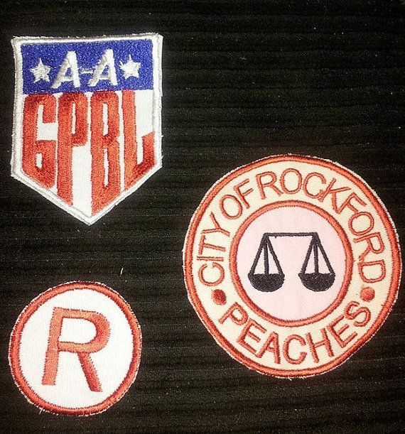 Rockford Peaches Costume Patches by designingtwining on Etsy