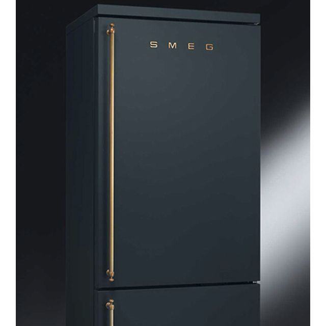 Smeg Matte Black Fridge With Copper Finish W A L L