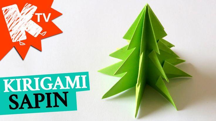 Sapin de noel en papier - kirigami origami facile