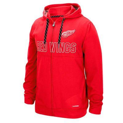 Detroit Red Wings Reebok Face-Off Full Zip Hoodie - Red