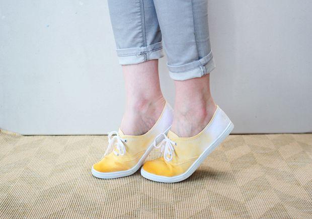 DIY dip-dyed shoes