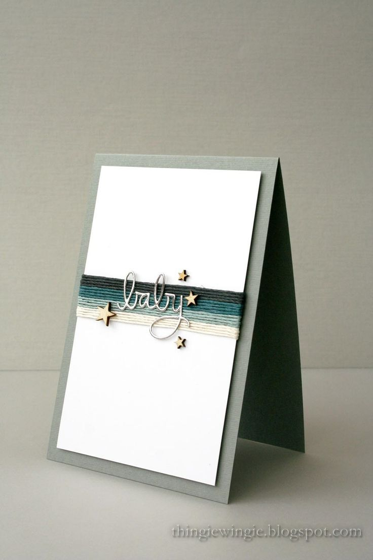 A nice CAS card for a baby boy! More cards at http://thingiewingie.blogspot.com