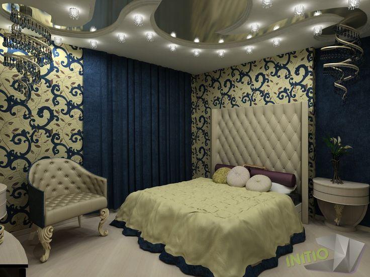 INITIO Сине-золотая спальня