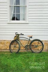 Clapboard House Photos - Bicycle by House by Jill Battaglia