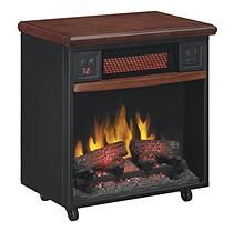 PowerHeat Infrared Fireplace in Cherry Finish
