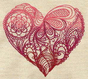 Intricate Swirling Shapes In Gradually Transitioning Colors Make Up A Pretty Heart