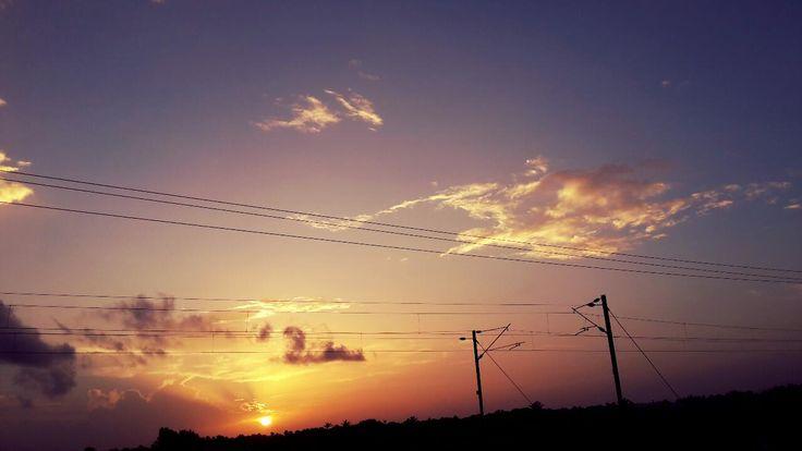 Sunset near my home near Cochin International Airport Kerala India [OC] [1280x720]