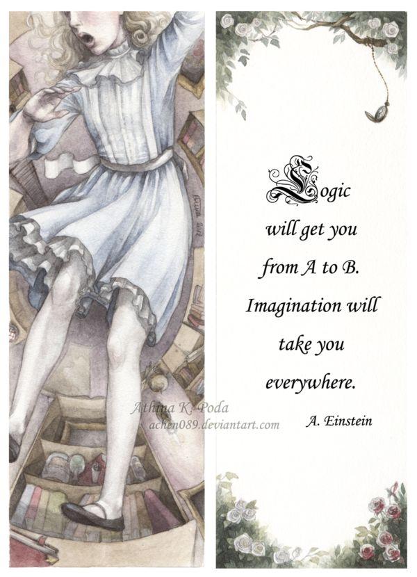 Alice In Wonderland Bookmark by Achen089.deviantart.com