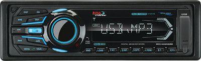BOSS AUDIO MR1308UABK Marine Single-DIN MECH-LESS Receiver, Bluetooth, Detac...