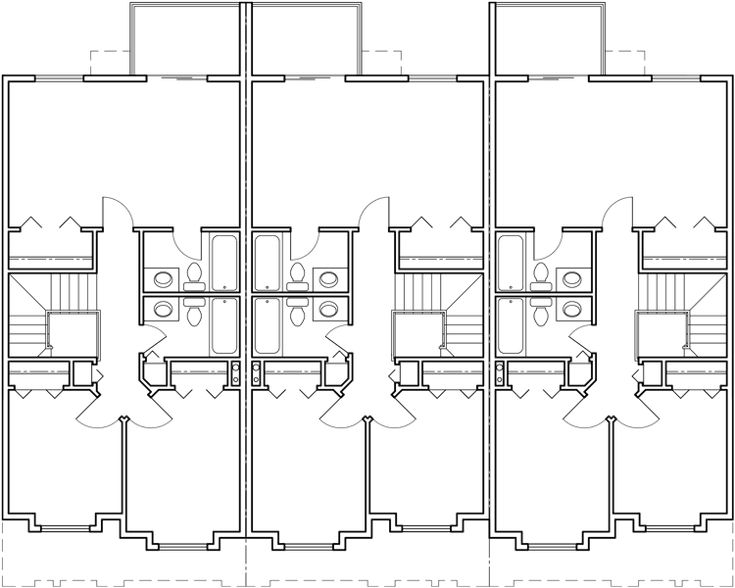 88 best triplex and fourplex house plans images on pinterest