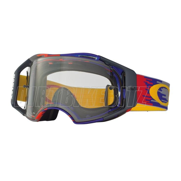 2013 Oakley Airbrake Mx Goggles - Hyperdrive Red Yellow Blue Airbrake Goggle - 2013 Oakley Airbrake Mx Goggles - 2013 Motocross