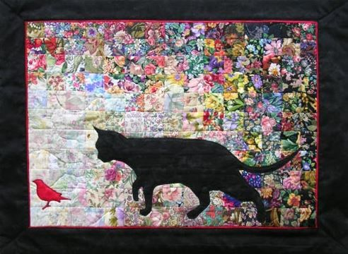 Make a patchwork cat quilt