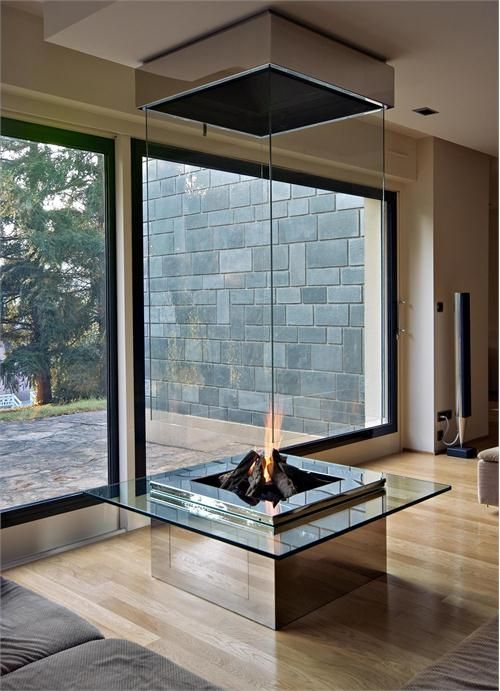 Stainless Steel Glass Wood Burning Cf D Bloch Design