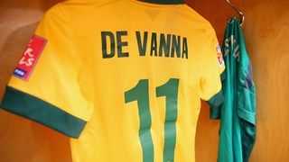 A view of Lisa De Vanna #11 of Australia's locker
