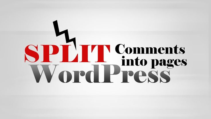 How to split #Comments into pages on Post in #WordPress