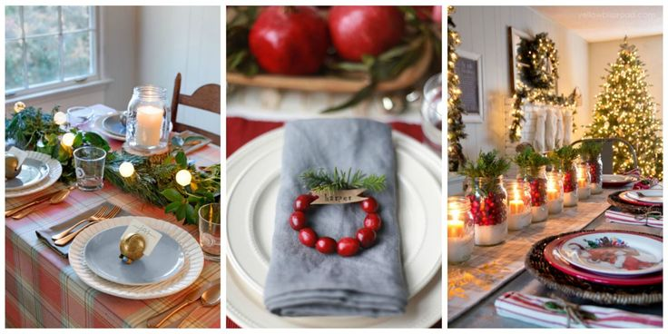 Flowers are the focal point of any Christmas table, but the rest of the setting shouldn't be forgotten!