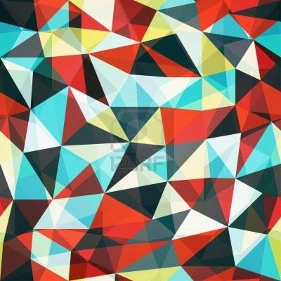 Retro Mosaik Dreieck