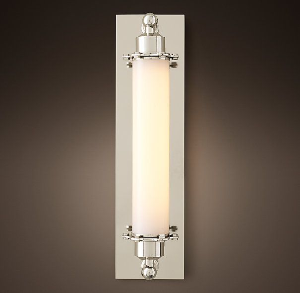 Sconce Lighting Bathroom: Grand Edison Milk Glass Sconce In 2019