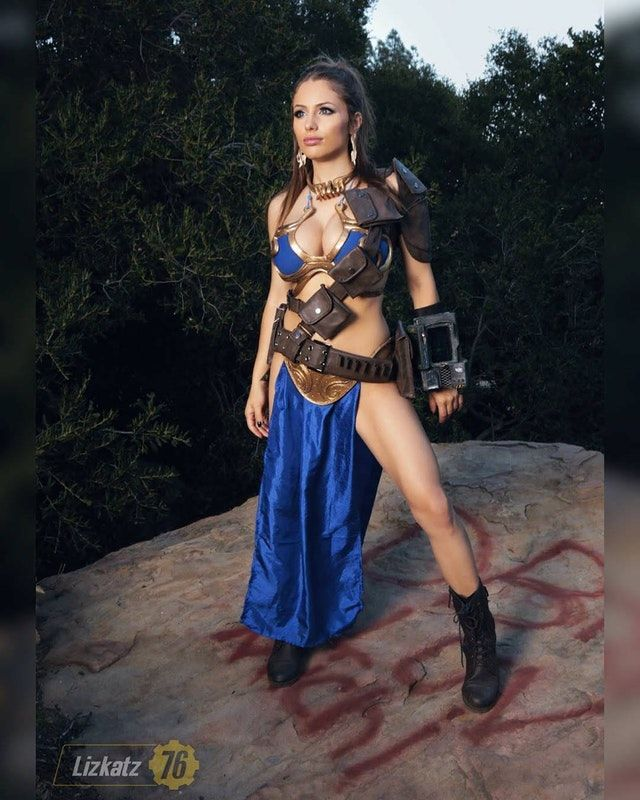 bcd37f1849eb1 Vault Slave Leia (Fallout / Return of the Jedi mashup cosplay) by Liz Katz