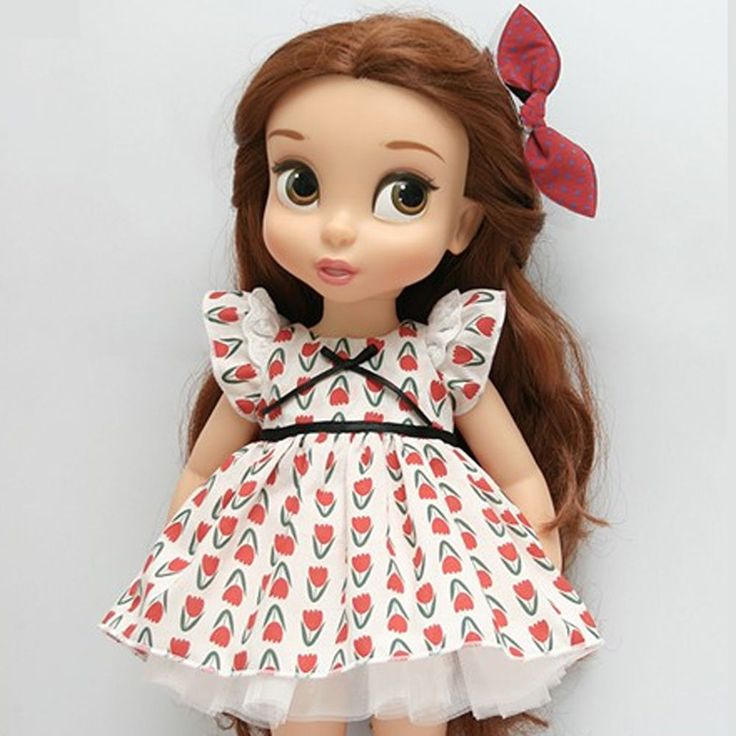 """Disney Baby doll clothes dress clothing red flower collection Princess 16"""" DR02 #HappyJinny"""