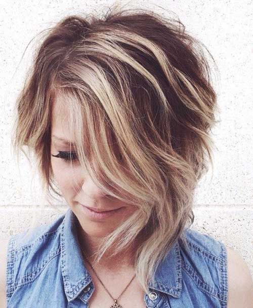 Short Hair Style for Round Face