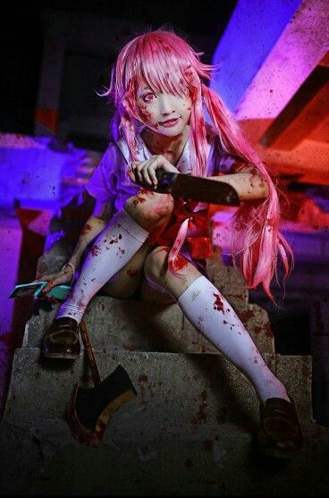 Anime Mirai Nikki Future Diary Character Yuno Gasai The Second