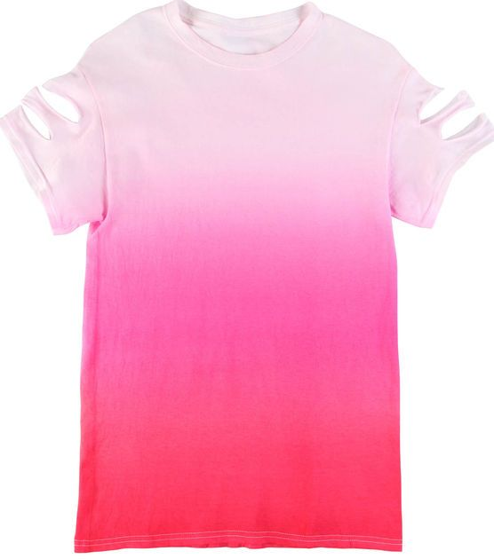 Pretty in Pink Ombre Altered T-Shirt