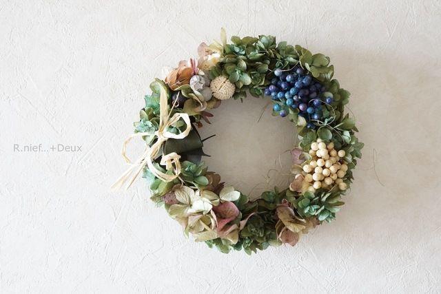 wreath:antique by R.nief フラワー・ガーデン プリザーブドフラワー