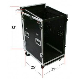OSP 16 Space 16U Mixer/Amp Rack Case with Table
