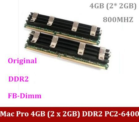 100% Original Mac Pro 4GB (2 x 2GB) DDR2 PC2-6400 Memory FB-Dimm ECC DDR2 800MHZ w/A-pple macpro 4GB DDR2 1.1, 2.1,3.1 updates  — 5010.62 руб. —