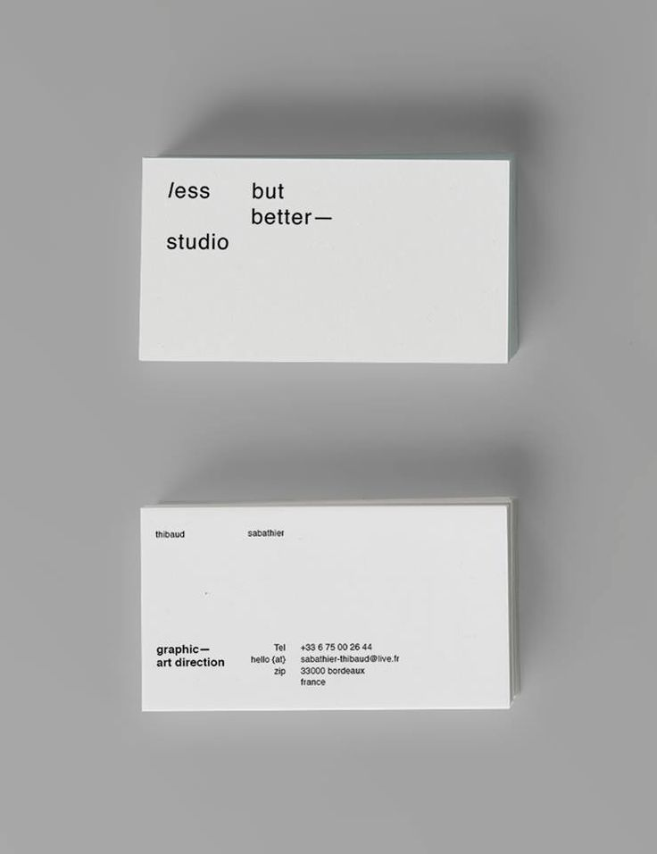 — Less but better / Featured branding