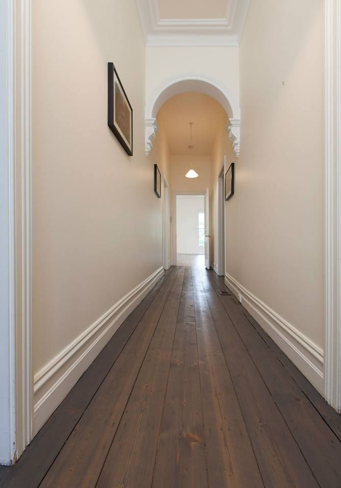 Polyx Oil Tints (3074 Graphite) onto Pine flooring