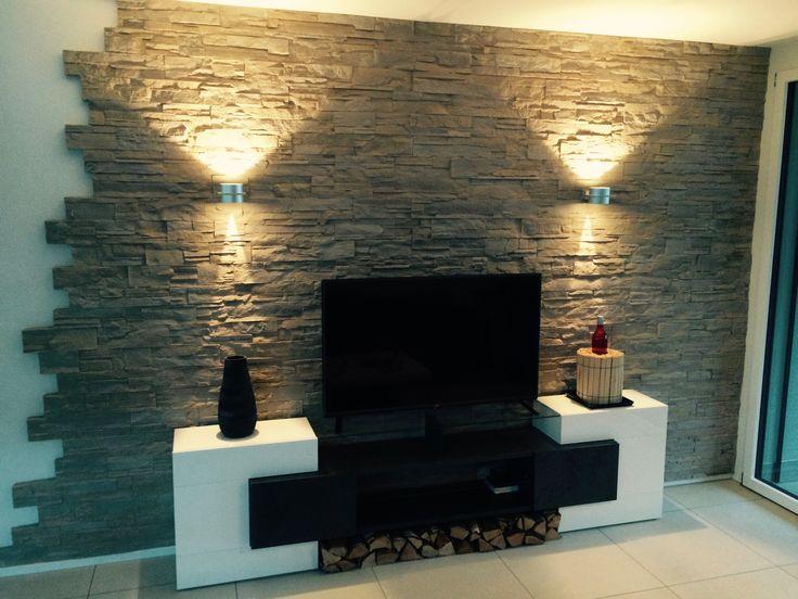 Moderne Leuchten · Wandgestaltung Stein Lascas