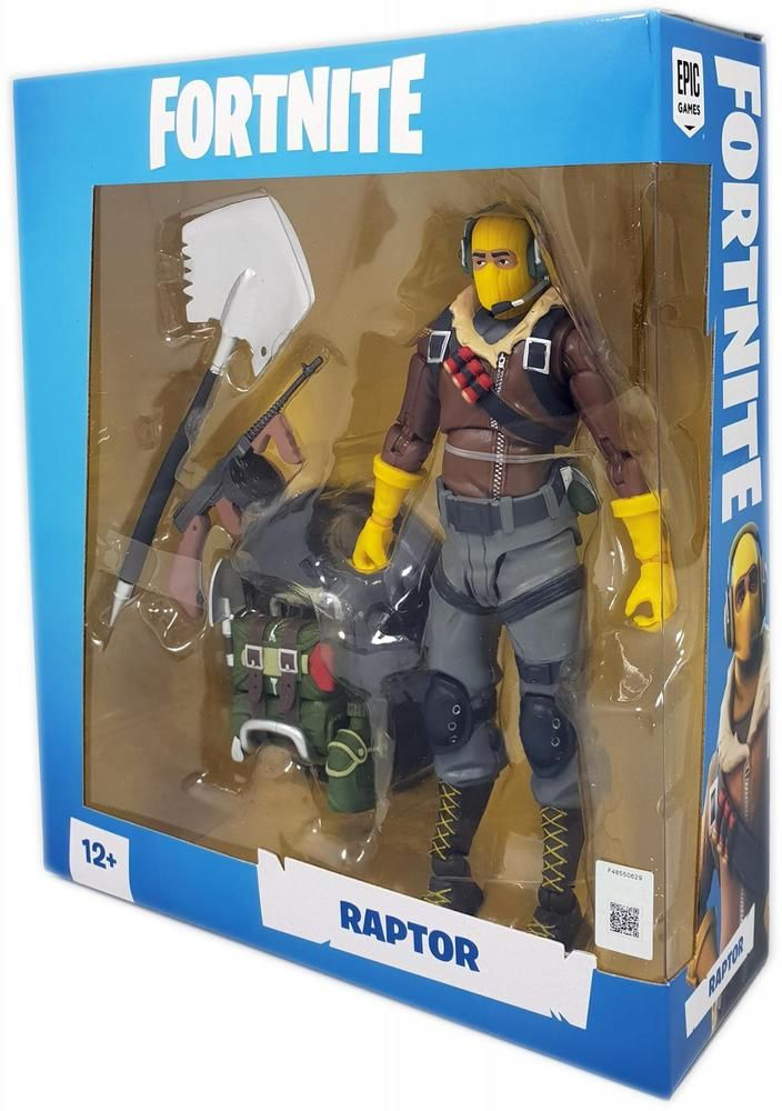 Genuine Official Fortnite Action Figure Raptor Poseable By Mcfarlane