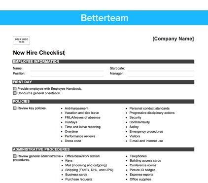 The 25+ best Onboarding checklist ideas on Pinterest Lularoe - sample new hire checklist template