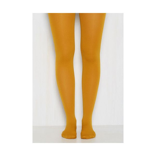 Accent Your Ensemble Tights in Curry ❤ liked on Polyvore featuring intimates, hosiery, tights, opaque pantyhose, opaque stockings and opaque tights
