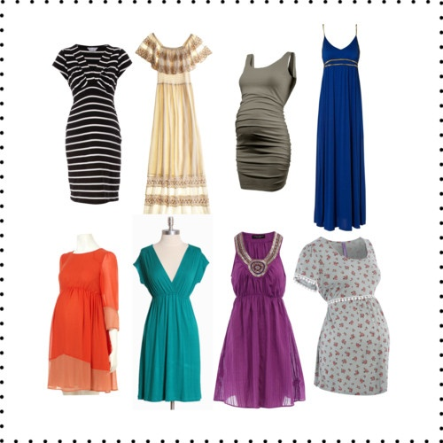 For all you expecting women out there here is some help on what to wear. These are lovely. The best things to wear are usually non-maternity or figure flaunting maternity outfits