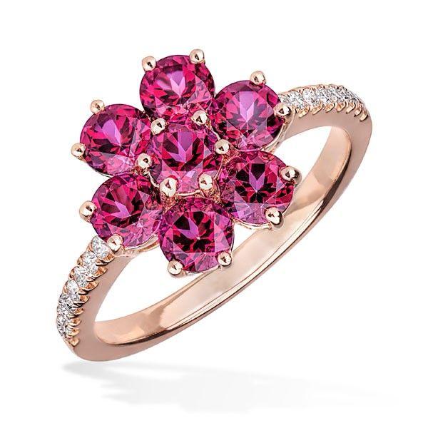 Inel diamante si turmalina DIGV00734 ‐ Bijuteria Teilor