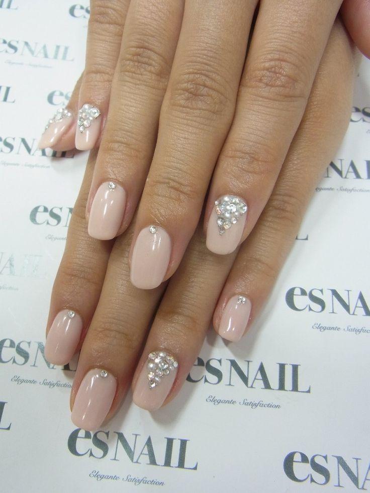 beautiful bling wedding nails