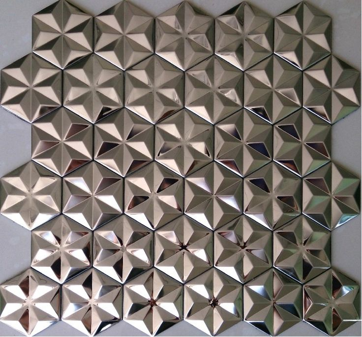 Silver metal mosaic stainless steel wall tiles backsplash SMMT012 3D mosaic tiles metal mirror wall sticker mosaics